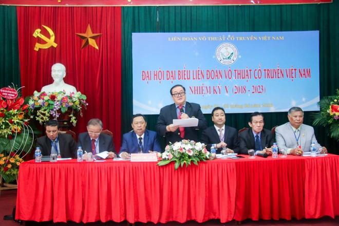 Ông Hoàng Vĩnh Giang tái đắc cử Chủ tịch Liên đoàn Võ thuật cổ truyền Việt Nam