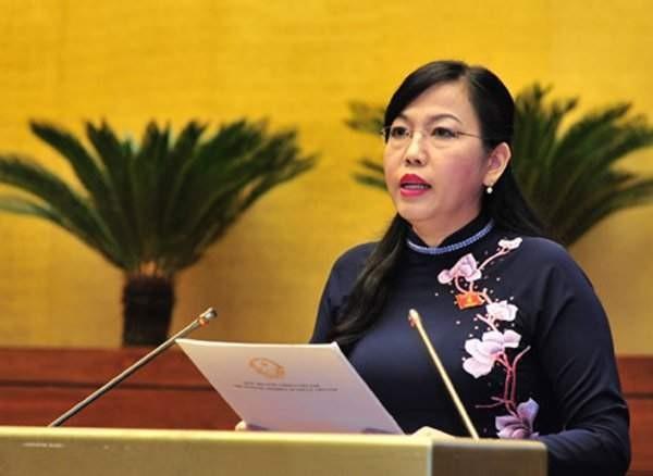 Trưởng ban Dân nguyện Nguyễn Thanh Hải trình bày báo cáo