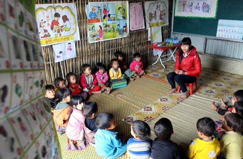 Nhiều nơi, hệ thống cơ sở vật chất giáo dục mầm non vừa thiếu lại vừa yếu