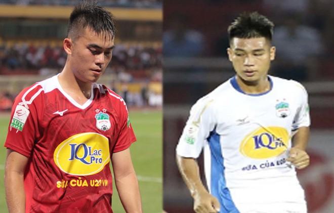 Tăng Tiến (trái) và Văn Hạnh cùng đang chịu án kỷ luật của VFF vì hành vi phi thể thao