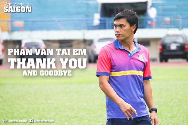 CLB Sài Gòn gửi lời cảm ơn và tạm biệt tới cựu HLV Phan Văn Tài Em