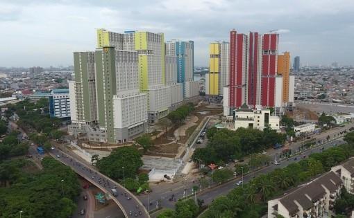 Đoàn Việt Nam được bố trí ở dãy cuối cùng và không được tốt như các dãy khác trong Làng VĐV Jakarta