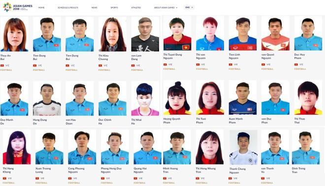 Tiến Linh, Hồng Duy, Văn Lâm, Thành Chung đã bị loại vẫn được ban tổ chức điền tên trong danh sách 20 tuyển thủ chính thức của đội tuyển Olympic Việt Nam dự ASIAD