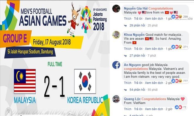 Fanpage Hiệp hội bóng đá Malaysia ngập tràn lời chúc, rất nhiều trong đó đến từ Việt Nam