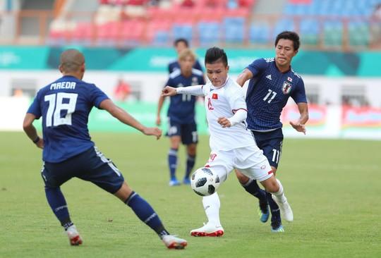 Ông Park đã chứng minh: Cầu thủ Việt Nam đủ sức đối đầu, thậm chí đánh bại các đội hàng đầu châu Á. (Trong ảnh: Olympic Việt Nam (áo trắng) thắng Nhật Bản tại ASIAD 2018)