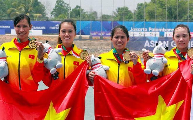 Rowing góp 1 trong 4 HCV cho đoàn Việt Nam tại ASIAD