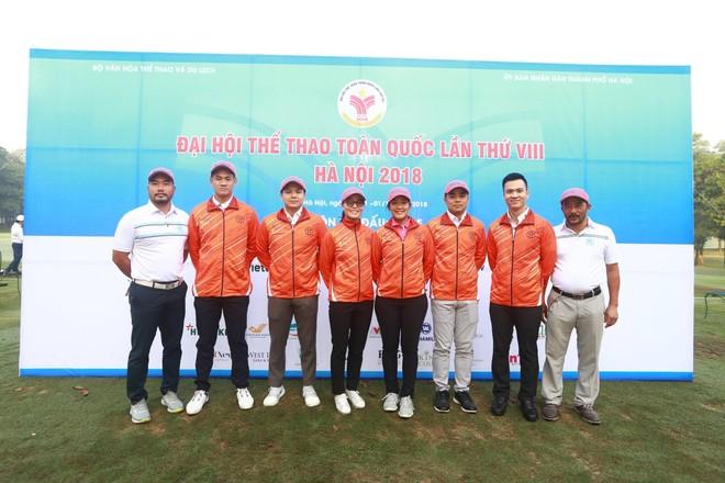 Các thành viên đội golf Hà Nội giành trọn 4 HCV tại đại hội