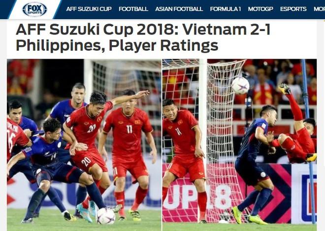 FOX Asia Sports đánh giá Quang Hải cao điểm nhất trận đấu