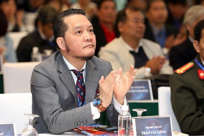 Ông Trần Văn Liêng tại đại hội VFF ngày 8-12