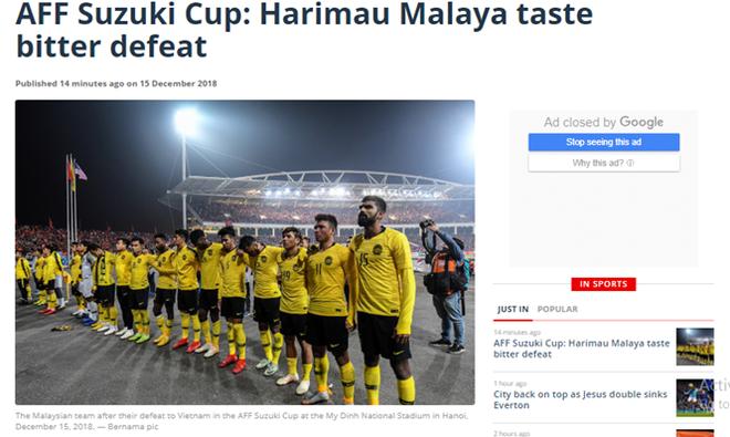Báo Malaysia cho rằng đội nhà đã nếm thất bại cay đắng tại Mỹ Đình