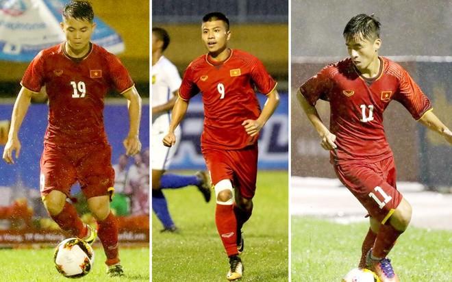 """Những """"sao mai"""" giải U21 như Tùng Quốc (19), Thanh Bình (9), Thanh Hậu (11)... cần được trui rèn để có thể là trụ cột của ĐTQG trong tương lai"""
