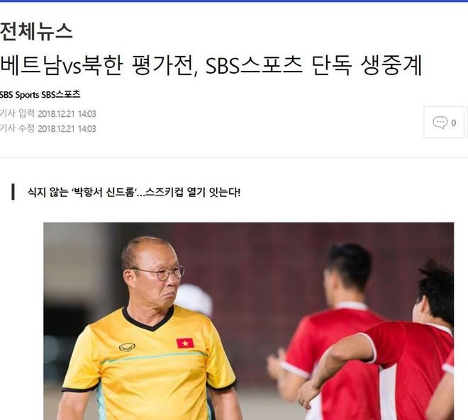 SBS cho biết sẽ trực tiếp trận giao hữu Việt Nam - CHDCND Triều Tiên