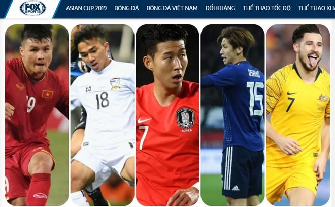 5 ngôi sao hứa hẹn tỏa sáng tai Asian Cup 2019 theo dự báo của FOX Sports (từ trái qua: Quang Hải - Việt Nam, Chanathip - Thái Lan, Son Heung-min - Hàn Quốc, Yuya - Nhật Bản,
