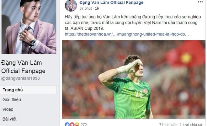 Đặng Văn Lâm gửi lời chào người hâm mộ trước khi sang Thai-League tiếp tục sự nghiệp trong màu áo Muangthong United
