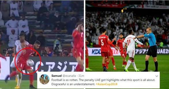 Trọng tài Adham có cuyết định thổi phạt đền có lợi cho chủ nhà UAE