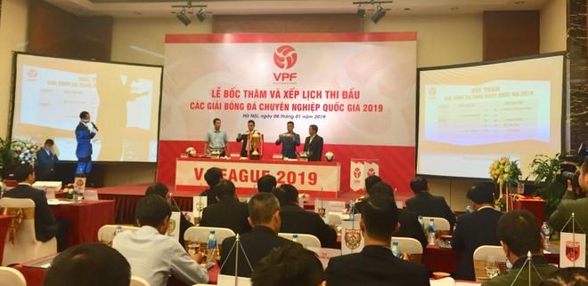 Quang cảnh lễ bốc thăm, xếp lịch thi đấu mùa giải 2019