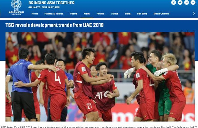 AFC có bài việt ngợi khen sự tiến bộ của đội tuyển Việt Nam