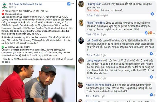 Nhiều bình luận xung quanh thông báo về nhân sự HLV trưởng của HAGL