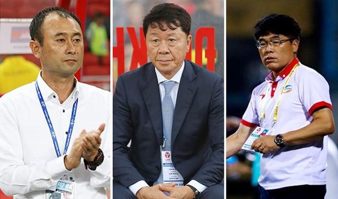 Ba HLV Hàn Quốc (từ trái qua): Lee Tae Hoon, Chung Hae-seong, Lee Heung-sil có những kết quả khác nhau khi cùng cầm quân tại lượt đi V-League 2019