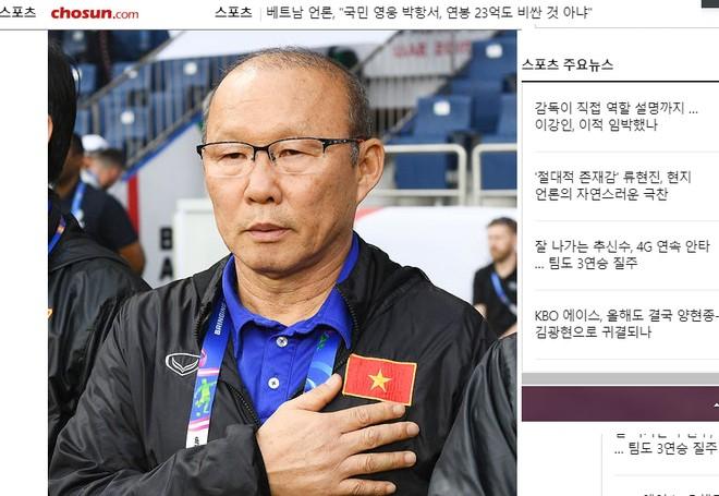 Báo chí Hàn Quốc liên tục có những đồn đoán về mức lương và giục giã VFF sớm tái ký hợp đồng để giữ HLV Park Hang-seo trước sự dòm ngó từ các đội bóng khác