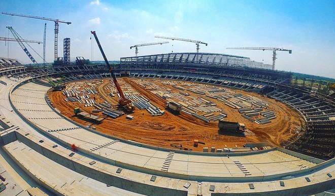Khu liên hợp thể thao Morodok Techo với điểm nhấn là sân vận động 60.000 chỗ ngồi đang được xây dựng
