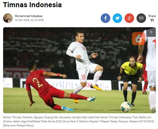 Báo chí Indonesia bày tỏ ngao ngán khi đội nhà thua Việt Nam sau 28 năm và là trận thua thứ 4 liên tiếp tại vòng loại World Cup 2022