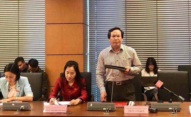 Đại biểu Trần Văn Quý (đoàn Hưng Yên) đề nghị quy định kinh phí hoạt động của các đoàn ĐBQH do Quốc hội đảm bảo