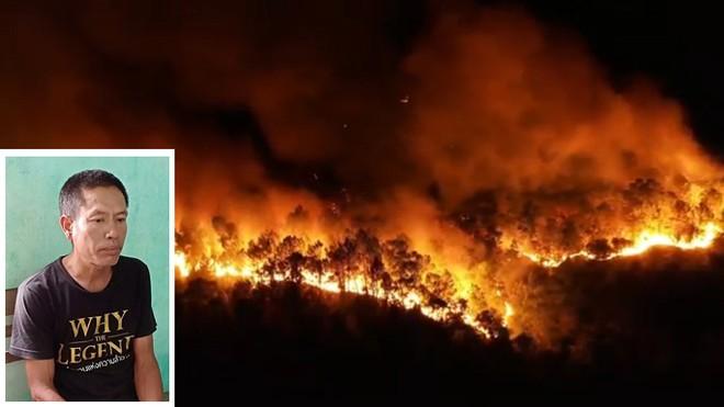 Một đối tượng bị khởi tố sau khi đốt rác trong vườn nhà vô tình làm xảy ra vụ cháy rừng lớn tại địa bàn huyện Nghi Xuân - Hà Tĩnh, tháng 7-2019