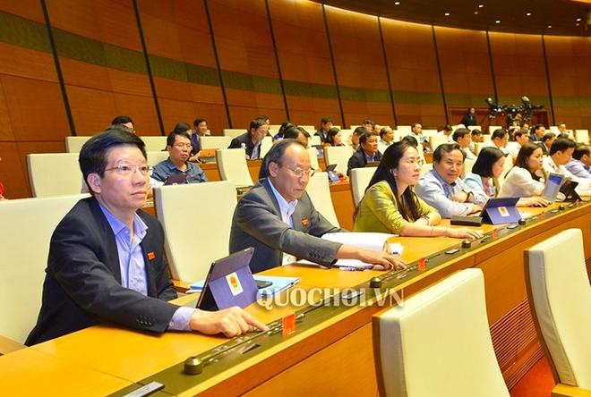 Đa số đại biểu Quốc hội tán thành thông qua Nghị quyết thí điểm tổ chức mô hình chính quyền đô thị tại thành phố Hà Nội.