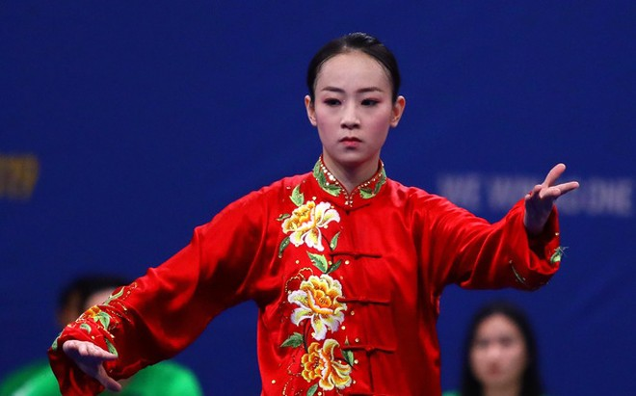 Võ sỹ wushu Trần Thị Minh Huyền giành huy chương đầu tiên cho Việt Nam