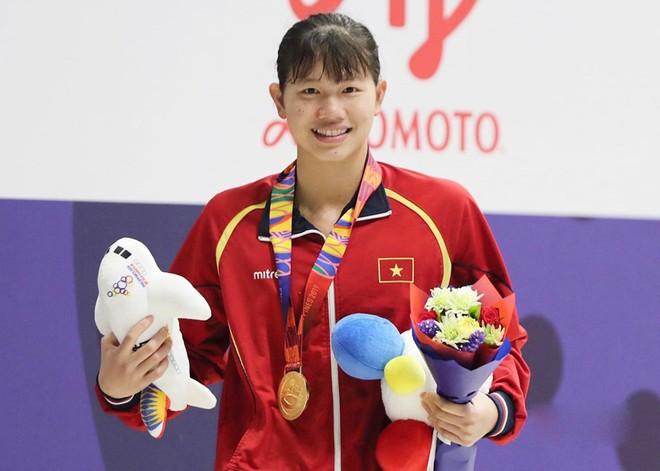 Nguyễn Thị Ánh Viên là VĐV giành nhiều HCV nhất đoàn Việt Nam và cả kỳ SEA Games 30