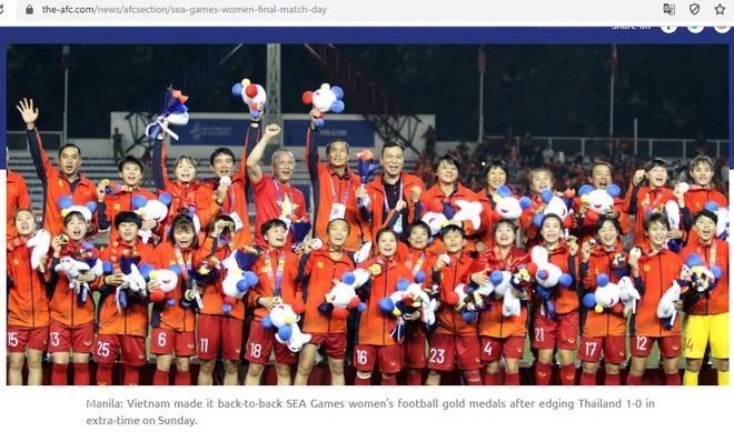 AFC có bài viết khẳng định tuyển nữ Việt Nam vô địch SEA Games xứng đáng