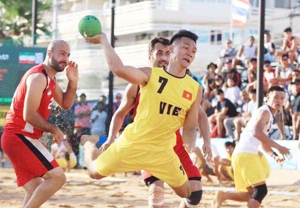 Đội bóng ném bãi biển sẽ góp thêm 1 HCV cho đoàn Việt Nam trong ngày bế mạc