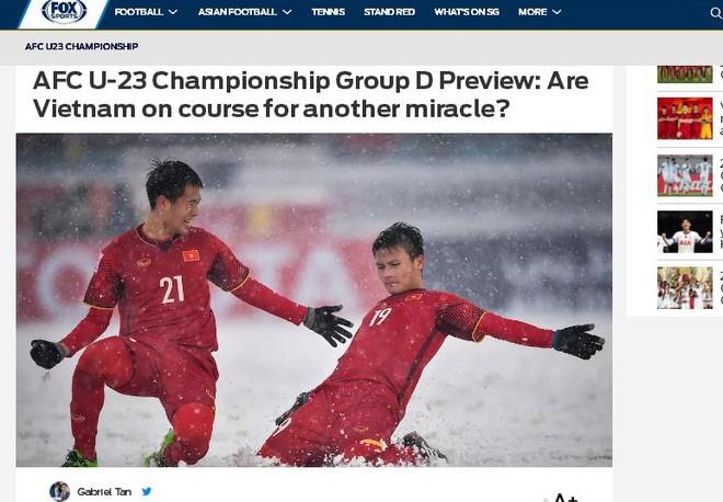 """Fox sport Asia đặt câu hỏi: """"U23 Việt Nam liệu sẽ tạo thêm một phép màu khác"""""""
