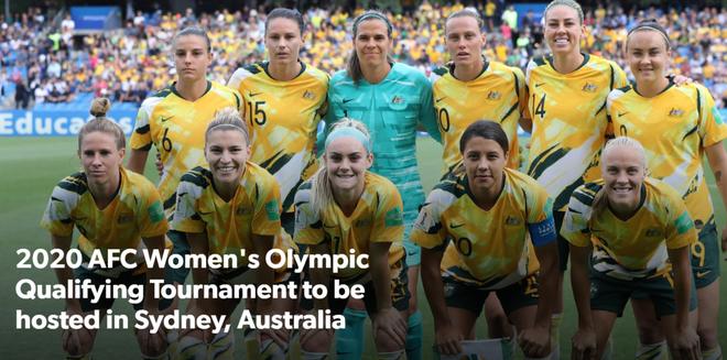 ĐT nữ Australia sẽ là bảng trưởng bảng B vòng loại Olympic, sau khi ĐT Trung Quốc mất quyền tổ chức tại thành phố Vũ Hán