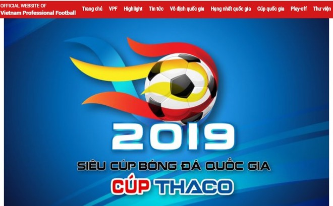 VPF thông báo về việc hoãn trận siêu cúp quốc gia, kéo theo việc dời lịch của ba giải bóng đá chuyên nghiệp là V-League, hạng Nhất và Cúp quốc gia