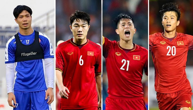 Từ trái qua: Công Phượng, Xuân Trường, Đình Trọng, Văn Đức sẽ là những nhân tố giúp V-League 2020 thêm hấp dẫn