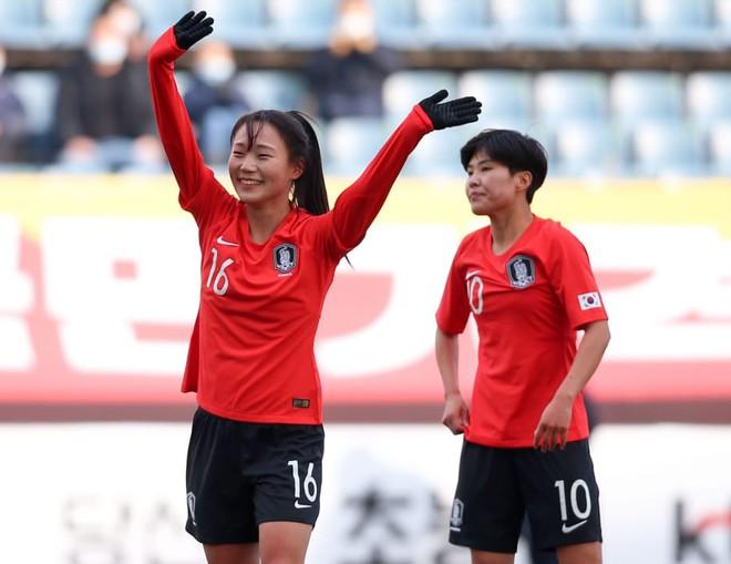 Cầu thủ Hàn Quốc ăn mừng chiến thắng