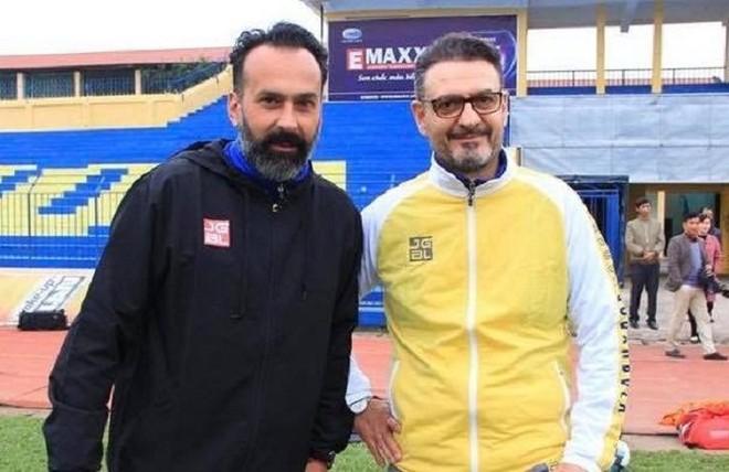 Bộ đôi HLV người Italia, Fabio Lopez (trái) và Orofino Salvatore đầu quân cho Thanh Hóa