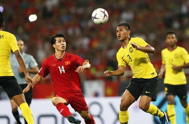 Kết quả trận tái đấu Malaysia ngày 13-10 tới sẽ quyết định cơ hội đi tiếp của đội tuyển Việt Nam (áo đỏ) tại vòng loại World Cup 2022