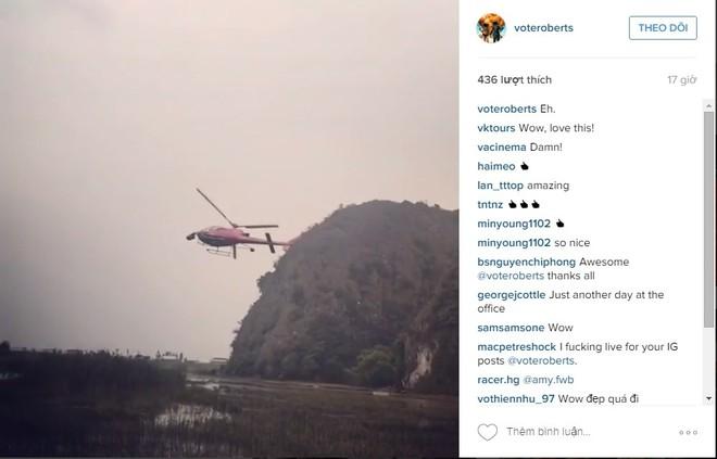 Hình ảnh về chiếc trực thăng đạo cụ được đạo diễn Jordan Vogt-Robert chia sẻ trên trang mạng xã hội cá nhân