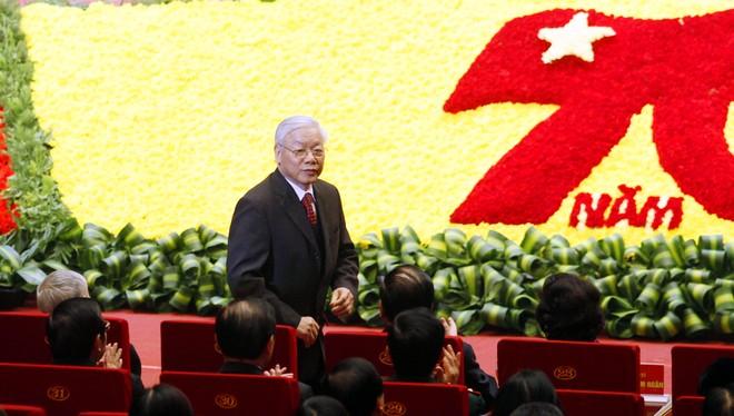 Tổng Bí thư Nguyễn Phú Trọng tại lễ kỷ niệm 70 năm Ngày toàn quốc kháng chiến