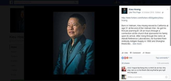 Tỷ phú Hoàng Kiều tuyên bố đóng cửa trang Fanpage vĩnh viễn 