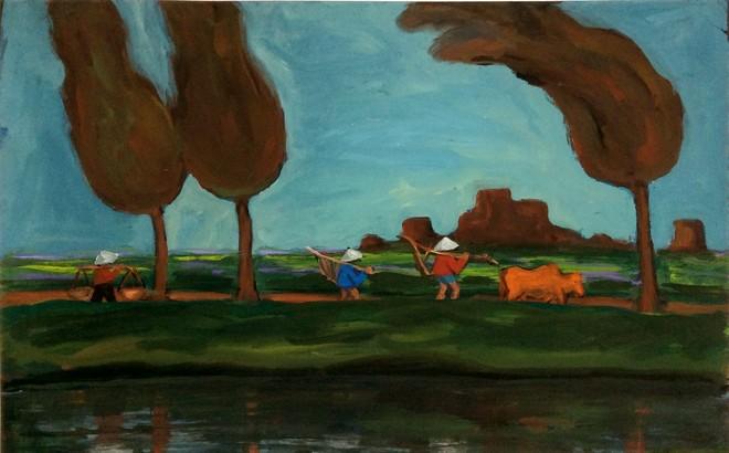 """Bốn họa sĩ gặp nhau tại triển lãm """"Ngã tư"""""""