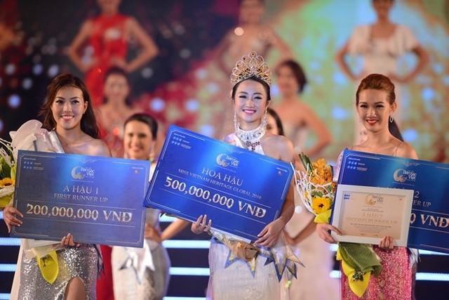 """Top 3 """"Hoa hậu Bản sắc Việt toàn cầu 2016"""""""