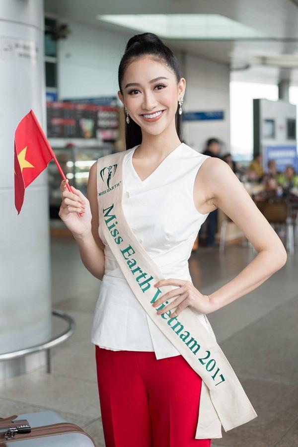 """Hà Thu dừng chân ở Top 16 """"Hoa hậu Trái đất 2017"""""""