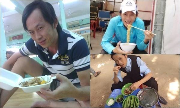 Hình ảnh giản dị của danh hài Hoài Linh ở phía sau cánh gà