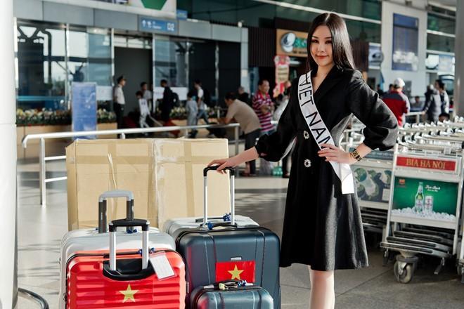 """Ngân Anh vẫn lên đường đi thi """"Hoa hậu Liên lục địa 2019"""" vào chiều nay 9-1-2019"""