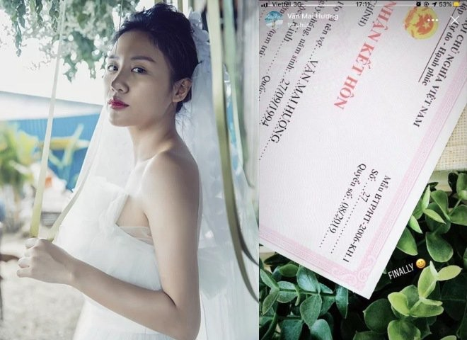 Vị hôn phu trong giấy đăng ký kết hôn với Văn Mai Hương là ai?