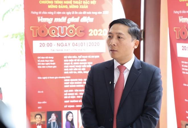 Ông Nguyễn Thanh Liêm - Tổng Biên tập Báo điện tử Tổ quốc chia sẻ về chương trình (ảnh: Nam Nguyễn)